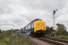 55019 - Wansford - 12.10.2019 (Tom Watson 70013) Tags: wansford nvr diesel gala class55 55019 royal highland fusilier class37 37109