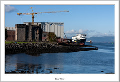 Calmac's Glen Sannox Under Construction (flatfoot471) Tags: autumn scotland riverclyde october unitedkingdom normal newark shipyard calmac 2018 portglasgow inverclyde caledonianmacbrayne 18125sigma castle crane ships merchant ferries glensannox perchrock fergusonmarine