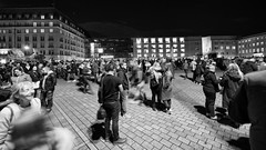 Lichterfest 2019 - Publikum (Pascal Volk) Tags: berlin mitte pariserplatz people street berlinleuchtet festivaloflights lichterfest berlinmitte artinbw schwarz weis black white blackandwhite schwarzweis sw bw bnw blancoynegro blanconegro nacht night noche wideangle weitwinkel granangular superwideangle superweitwinkel ultrawideangle ultraweitwinkel ww wa sww swa uww uwa 15mm herbst fall autumn otoño canoneosr canonrf1535mmf28lisusm canondigitalphotoprofessional dxophotolab dxosilverefexpro nikcollection ilfordpanfplus50
