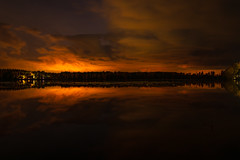 Glow (gubanov77) Tags: night glow longexposure nature vvedenskoelake pokrov russia vladimiroblast skyline reflection water landscape