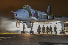 XM655 (47843 Vulcan) Tags: timelineevents avro vulcan bomber xm655 wellsbourne airfield flightcrew pilot raf vforce