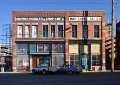 Mah Wah and Wah Chong Tai Co. (Patinagal) Tags: facade commercial architecture commercialarchitecture storefront windows brick relic decay history butte montana
