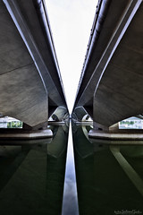 UNDER THE BRIDGE (ChieFer Teodoro) Tags: canon 6d 1635mm lee filter arca swiss gitzo landscape cityscape esplanade bridge water marina reservoir singapore under