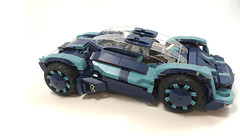 Colide-Sprint in dark blue and medium azure (Veeborg) Tags: legofoitsop legoideas concept car vehicle automobile auto motor futuristic engine speed prototype race modular fuel cell glow charger
