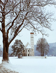 Church in the Snow - Germany (babasteve) Tags: germany schwangau church snow babasteve steveevans