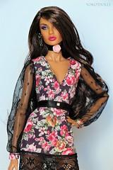 Rayna in Rose (YOKO*DOLLS) Tags: rayna nuface integrity fashionroyalty doll fashion handmade sewing barbie