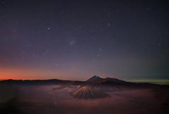 Mount Bromo Predawn Glow (Zur@imiAbro@d) Tags: indonesia mountbromo predawn astro stars mountain caldera volcano tenggermassif bromotenggersemerunationalpark mountsemeru mountbatok mountwidodaren night longexposure zurimiabrod