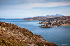 Near northerly view of Coigach Mountains, Scoraig Peninsula, Achiltibuie and the Summer Isles from Gruinard Bay. (Scotland by NJC.) Tags: coastline 海岸线 litoral côte küste linea costiera 海岸線 해안선 seashore coast shore seaboard seaside beach strand island isle islet archipelago atoll key جَزِيرَةٌ ilha 岛屿 otok ostrov ø eiland isla saari île insel νησί isola mountains hills highlands peaks fells massif pinnacle ben munro heights جَبَلٌ berg montaña vuori montagne βουνό montagna fjell gruinardbay scoraigpeninsula achiltibuie summerisles westcoastofscotland scotland