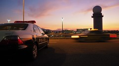 police car (Sat Sue) Tags: olympus micro four thirds 43 penf japan fukuoka airport