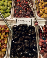 So many choices... (The Philosophical Fish) Tags: 119photosin2019 food granvilleislandpublicmarket olives spoonful
