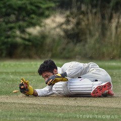 A magnificent run out. (Steve.T.) Tags: cricket playingcricket sport playingsport wicketkeeper runout glovework sportphotography sportsphotography sportphotographer sportsaction actionshot cricketball nikon d7200 sigma150600 cricketphotography