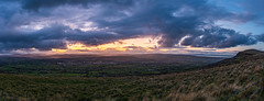 Sunset panorama (jac.photography49) Tags: afterdark autumn canon clouds donegal derry exposure fullframe foyle field grass hills images ireland inishowen view wideangle 5dmkiii lough loughfoyle londonderry mountain northernireland ngc nightscape nightscene nightsky roevalley sky sea tiltsshift valley 24mm 2