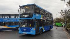 Metrobus 6966 (YP58 UGG) Barnham Station 13/10/19 (jmupton2000) Tags: yp58ugg scania omnidekka metrobus goahead south coast crawley rail railway replacement bus