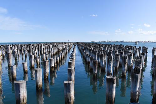 Remnants of a pier - Port Melbourne