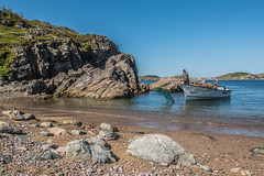 Fisherman at Work, French Beach (Serge Dai) Tags: french beach long quiet pebble trail rocks head spillars fisherman boat fishing landscape scenery view spectacular capture composition