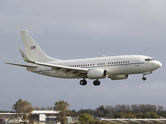 USAF C-40 02-0201 (birrlad) Tags: shannon snn international airport ireland aircraft aviation airplane airplanes arrival arriving approach finals landing runway boxer 020201 boeing c40c bbj b737 c40 usaf airforce military