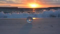 Sunrise (moniquerebanks) Tags: sunrise jervisbay hyamsbeach lensball glassball sphere artistic dawn seascape australia holiday travelphotography ocean glasbal waves zonsopgang nikond7100 sonnenaufgang salidadelsol sorgeredelsole leverdusoleil glasskugel throughthelens imaginative bouledecristal crystalball