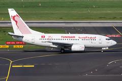 TS-ION Tunisair Boeing 737-6H3 (buchroeder.paul) Tags: eddl dus dusseldorf düsseldorf international airport flughafen deutschland germany europa europe external ground boden tsion tunisair boeing 7376h3