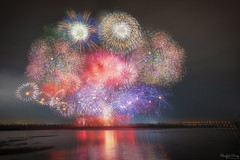 The 108th National Day of R.O.C(Taiwan) Fireworks (Hong Yu Wang) Tags: sony a73 a7m3 a7iii 1224g fireworks kaohsiung night 高雄 國慶 煙火 舊鐵橋 taiwan 台灣 臺灣 roc nationalday 108th