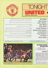 Manchester United vs Southampton - 1982 - Page 12 (The Sky Strikers) Tags: manchester united southampton the milk cup road to wembley old trafford review official season programme 30p