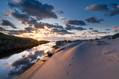 on my way to location (Ivan Mæland) Tags: dunes sand sun tracks sea water ocean river clouds d850 nikon