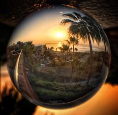 Messing around with my lens ball! Sunrise Fuengirola (Andreadm66) Tags: sea sun sunrise spain fuengirola iphone lensball crystalball