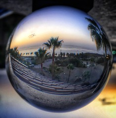 Messing around with my lens ball! Sunrise Fuengirola (Andreadm66) Tags: