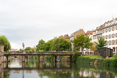 Bridge over the Ill river (Istvan SZEKANY) Tags: strasbourg alsace ill bridge river building cityscape architecture canal outdoors old reflection outdoor town nature noperson house tree urban scenic scenery sky neighborhood traveling channel urbanarea waterway travel bank water city