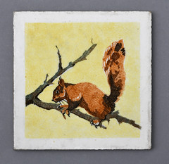 Red Squirrel, Dunsmore Tiles (robmcrorie) Tags: polly brace kathleen pillsbury london red squirrel tile ceramic 1950s 1930s dunsmore tiles