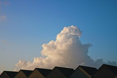 Above the clouds.. (erlingraahede) Tags: colorful rooftops blue holstebro denmark clouds autumn poetic
