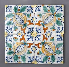 Ceramic tiles by Frederick Garrard (robmcrorie) Tags: frederick garrard tile 19th century london copy dutch holland design pomegranate arts crafts