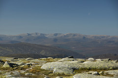 Moon on the Cairngorms (steve_whitmarsh) Tags: aberdeenshire scotland scottishhighlands highlands mountain hills moon carnachoirebhoidheach landscape nature topic
