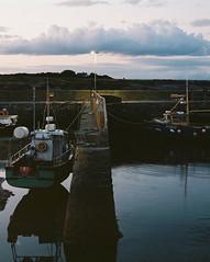 Slade Harbour at Dusk (adambermingham) Tags: wexford ireland harbour sea pentax6x7 mediumformat boats dusk