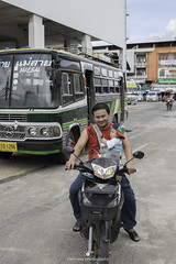 Typical on the streets of Bangkok (www.ownwayphotography.com) Tags: travel people transport motorbike scooter motorcycle vehicle bike city motor lifestyle culture transportation wheel asian asia street speed traffic road children family driving thailand girls young woman fun tourists vacations