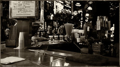 Happy Hour (Neil. Moralee) Tags: neilmoralee usa2017neilmoralee man woman people bar drink happy alcohol hour toned sepia new orleans neil moralee nikon d7200 usa beer whiskey tap bourbon black white mono monochrome bw blackandwhite blackwhite deal cheap