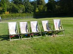 Bodnant Garden - Old Park 190919 [Deck Chairs 1] (maljoe) Tags: bodnantgarden bodnant nationaltrust northyorkshire deckchairs