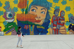 Things are looking up (ho_hokus) Tags: 2019 fujix20 fujifilmx20 manhattan nyc newyorkcity worldtradecenter streetphotography mural wtc
