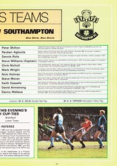 Manchester United vs Southampton - 1982 - Page 13 (The Sky Strikers) Tags: manchester united southampton the milk cup road to wembley old trafford review official season programme 30p