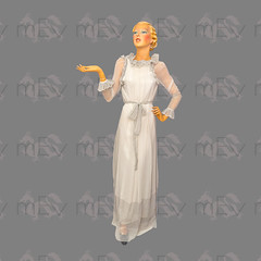 1970s Jean Varon Sheer Ruffle Gown (Rickenbackerglory.) Tags: vintage 1970s siegel mannequin jeanveron sheer ruffle gown johnbates