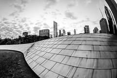 Love is Blind (Thomas Hawk) Tags: america bpbridge bppedestrianbridge chitown chicago cookcounty frankgehry illinois milleniumpark usa unitedstates unitedstatesofamerica architecture bridge sunrise fav10 fav25 fav50