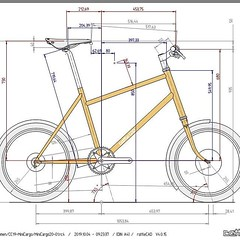 A first quick drawing for a MiniCargo #cargobike #ccycles #rattlecad