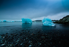 The diamond beach Iceland (Bjarni53) Tags: iceland diamond beach summer nikond7500 tokina1116 tokina nd1000 tripod backround blue hue lake water sea ice fallenice vatnajokull vatnajökull glaciers cold night midnight midnightsun beauty beautiful iceatabeach icecube icelandic stones rocks colors europe scandenavia longexposure
