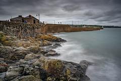 Harbour (100 Real People) Tags: nikond750 nikkor28105f3545 penzance cornwall neutraldensity filter harbour sea rocks moody mood dark