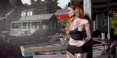 Morning After the Red Moon (Elise~Mersereau) Tags: dappa frogmore red portrait girl sl secondlife