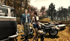 Autumn song ! (Luca Arturo Ferrarin) Tags: secondlife autumn picnic colored leaves dead lover beautiful love touring bike dog camping
