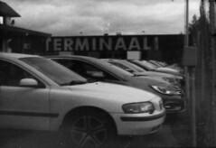 Old warehouse terminal (Sonofsono) Tags: submini black bw white 16mm svema expired filter film finland minolta minolta16