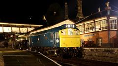 At the Box (Duck 1966) Tags: d7535 class25 ballast train diesel locomotive emrps llangollenrailway nightime darkness