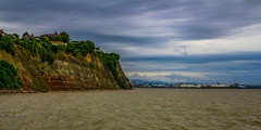 Clevedon cliffs (WorcesterBarry) Tags: lovecolour light landscape outdoors places paths travel humour happiness cliffd adventure nature water sky clouds text texture tones buildings