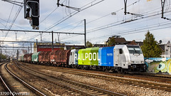 Railpool Lineas 186 295 on 44533 at Antwerpen Berchem (37001 overseas) Tags: antwerpen berchem antwerpenberchem lineas sncb blx 44533 antwerpennoord gremberg 186295 1862952 shimmns shimms railpool
