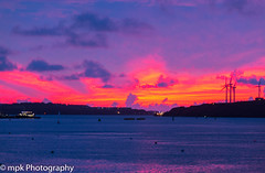 Sunset over the Cleddau (Mick PK) Tags: appicoftheweek cloud clouds estuary pembrokedock pembrokeferry pembrokeshire pembrokeshirecoast pembrokeshirecoastnationalpark places sky sunset uk wales water